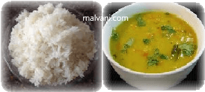 मालवणी डाळ भात - Dal-bhat Recipe