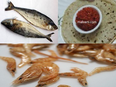 Dried Mackerel – prawns Malvani chutney